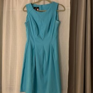 blue dress fit and flare
